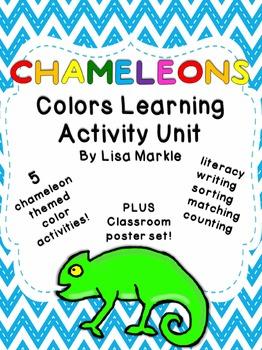 Chameleons Color Recognition Activity Pack for Preschool