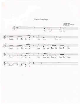 Chamniamogogo Song Printables with Mp3 (West African Folk Song)