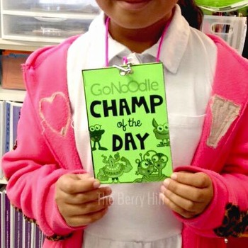 GoNoodle Champ of the Day Lanyard Card