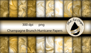 Champagne Brunch Hurricane Papers Clipart