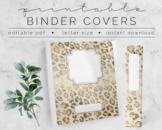 Champagne Cheetah BINDER COVER | Google Slides Template |