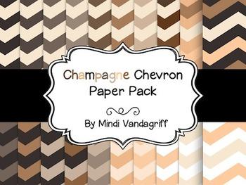 Champagne Chevron Paper Pack