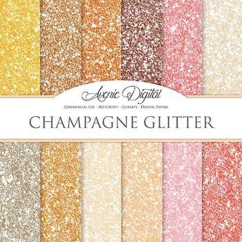 Champagne Glitter Textures Background Digital Paper scrapb