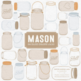 Champagne Mason Jars Clipart & Vectors - Ball Jar Clipart