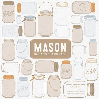 Champagne Mason Jars Clipart & Vectors - Ball Jar Clipart