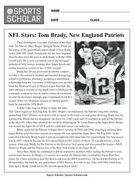 NFL Championship Quarterback Football Worksheets