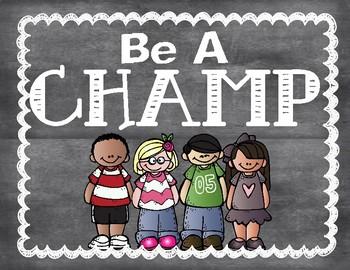 Champs Behavior Management - Posters
