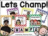 CHAMPS Behavior Management Signs in Polka Dots