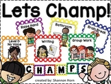 CHAMPS Behavior Management Signs in Polka Dots