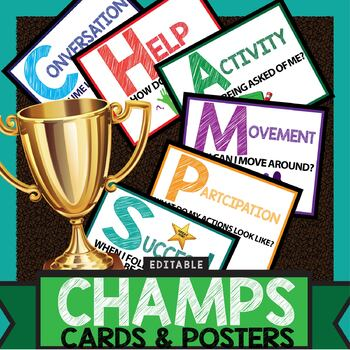 Champs Cards & Posters - Visual Classroom Management Tools