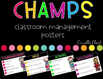 Champs- Classroom Management Posters