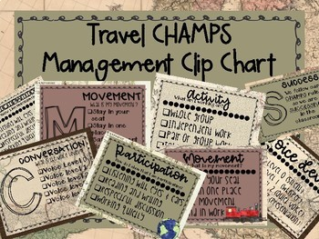CHAMPS Posters and Clip Chart - Travel Theme