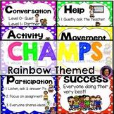Champs Posters Rainbow Polka Dot Theme