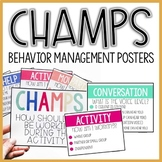 Classroom Management CHAMPS Posters