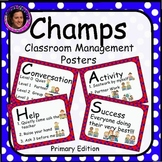 Champs Posters Red & Blue Polka Dot Theme