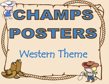CHAMPS Posters Western Theme (2 Background Colors)