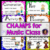 Champs Posters for Music Teachers Rainbow Theme