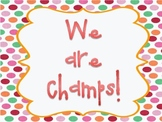 Champs Sign Polka Dot Theme