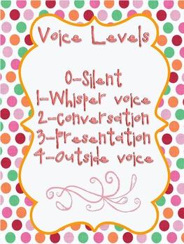 Champs Voice Levels Polka Dot Theme
