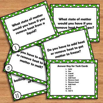 Changing States of Matter: Foldable and Task Cards