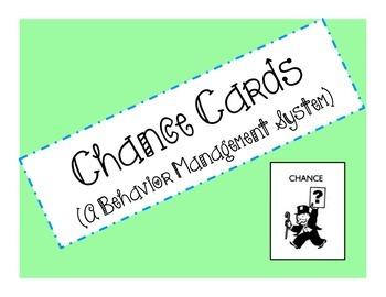 Chance Cards Behavior Management System