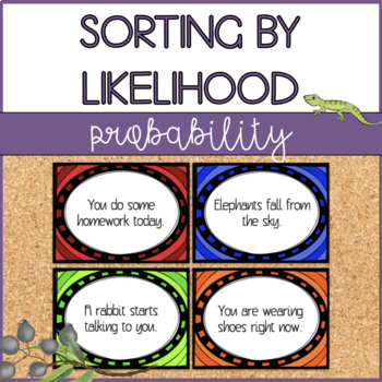 Probability Cards - Sorting by Likelihood