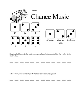 Chance Music Activity Worksheet
