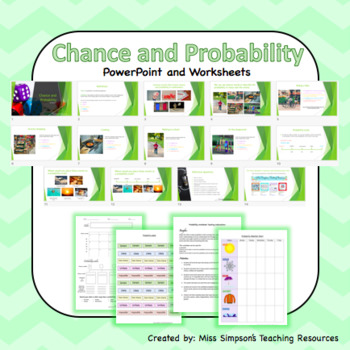 Chance and Probability WORKSHEETS AND SLIDES