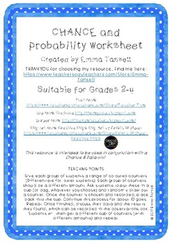 Chance and Probability Worksheet
