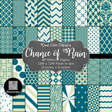 12x12 Digital Paper - Color Scheme Collection: Chance of R