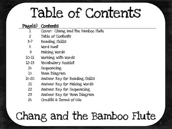 Chang and the Bamboo Flute:  5th Grade Harcourt Storytown Lesson 3