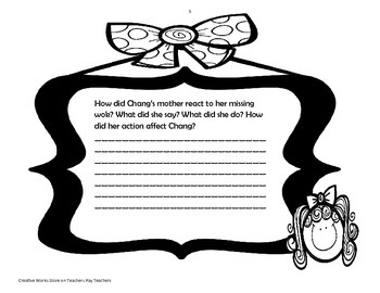 Chang and the Bamboo Flute - Reading Questions, Story Elements Bundle