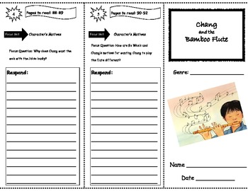 Chang and the Bamboo Flute Storytown  Comprehension Trifold
