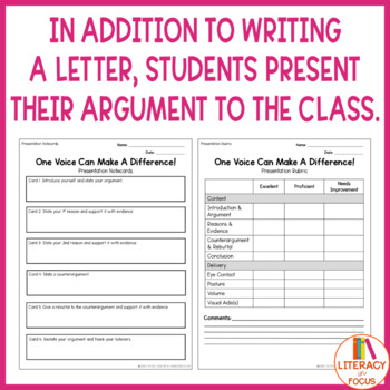 Change A Law - Argument Writing Project and Presentation (PRINTABLE & DIGITAL)