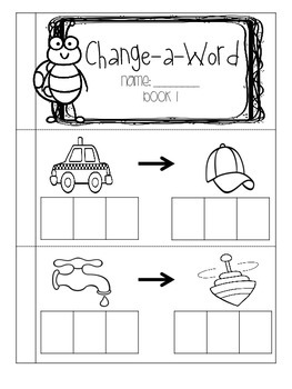 Change-A-Word: Build CVC Word Books (1 sound)