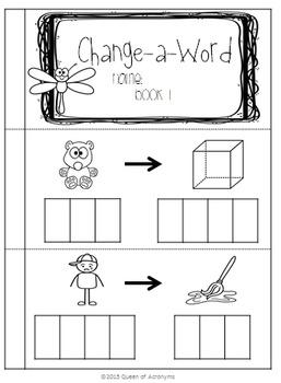 Change-A-Word: Build CVC Word Books *BUNDLE*