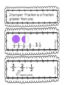 Change Improper Fractions to Mixed Numbers Interactive Notebook