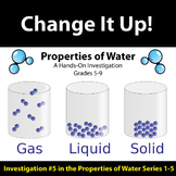 Change It Up - Properties of Water Investigation #5