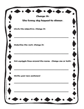 Change Its:  Daily Grammar Games to teach Parts of Speech and Word Choice