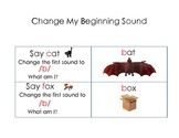 Change My Beginning Sound to Make a New Word Phonemic Awareness Activity