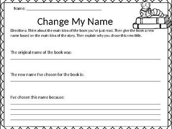 Main Idea Challenge: Change My Name