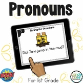 Change Nouns to Pronouns Activity: First Grade BOOM Cards™