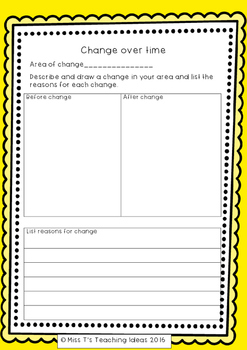 Change Over Time Year 3 Task