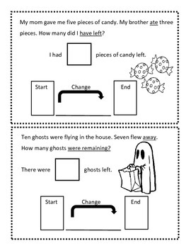 Change To Less Halloween Math Book - Everyday Math