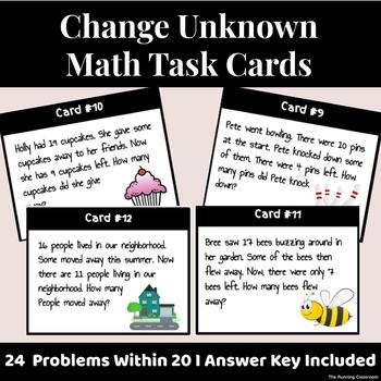 Change Unknown (Missing Subtrahend) Word Problems within 20