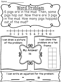 change unknown subtraction word problems by miss giraffe tpt. Black Bedroom Furniture Sets. Home Design Ideas