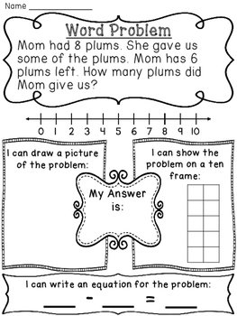 Change Unknown Subtraction Word Problems