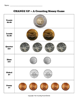 Change Up (Canadian Money Version)