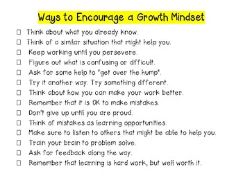 Change Your Mindset Activities and Printables