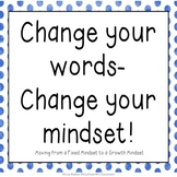 Change Your Mindset: Posters for moving from a fixed to a growth mindset